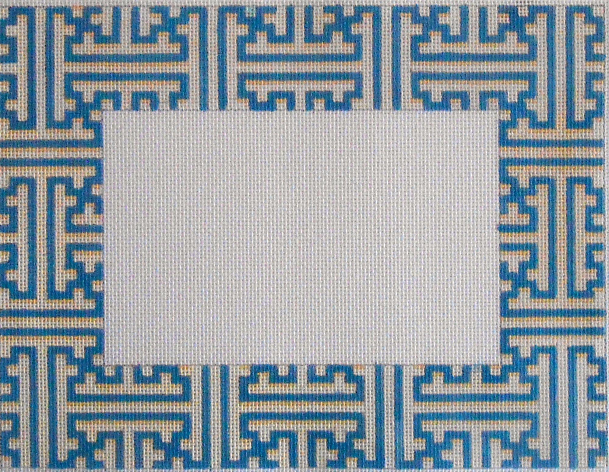 Blue/Cream Fretwork Frame