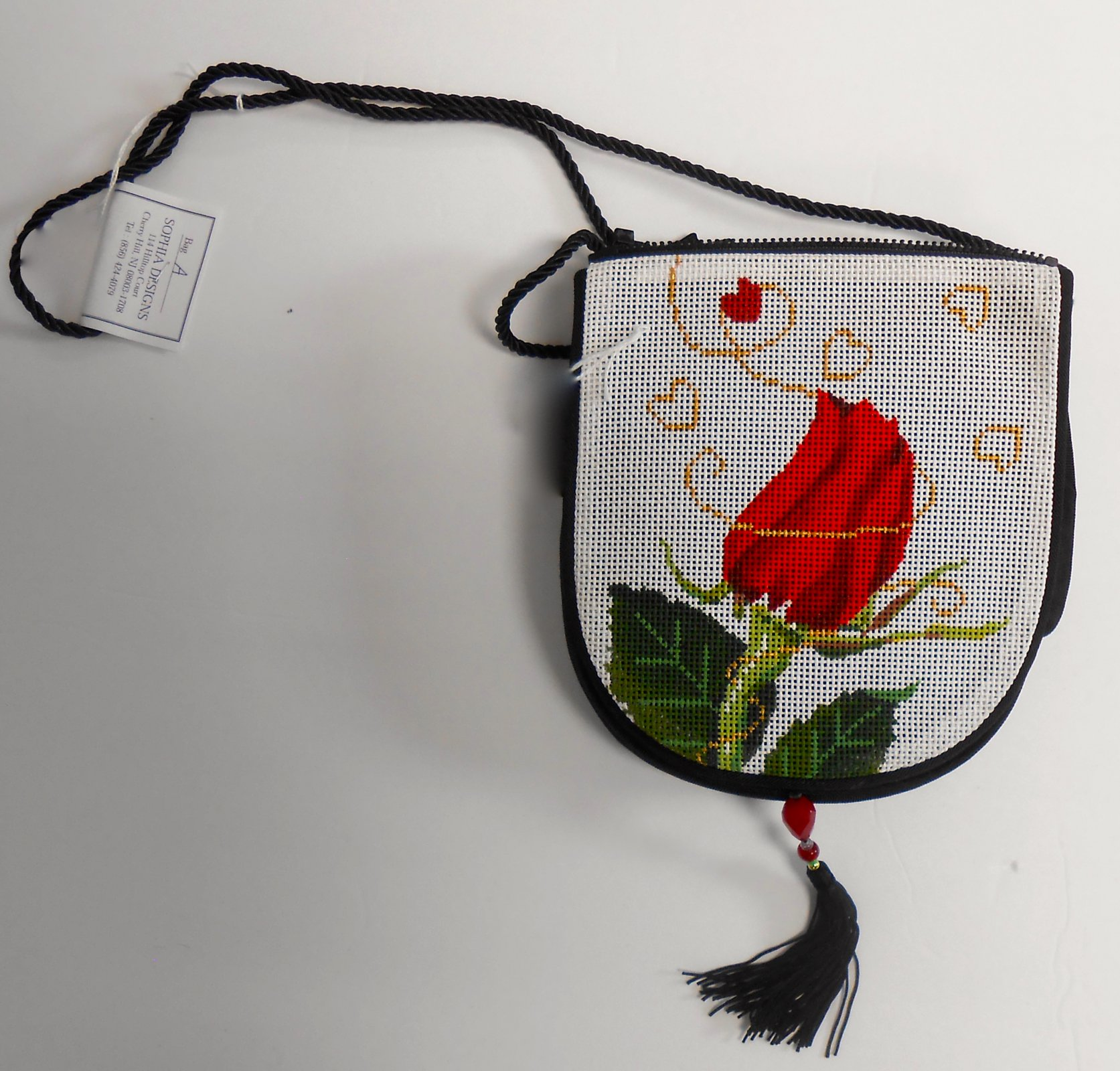 Love (Red Rose & Heart) Purse Flap