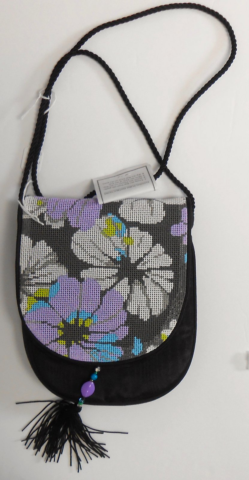 Rhapsody (purple & White flowers) Purse Flap