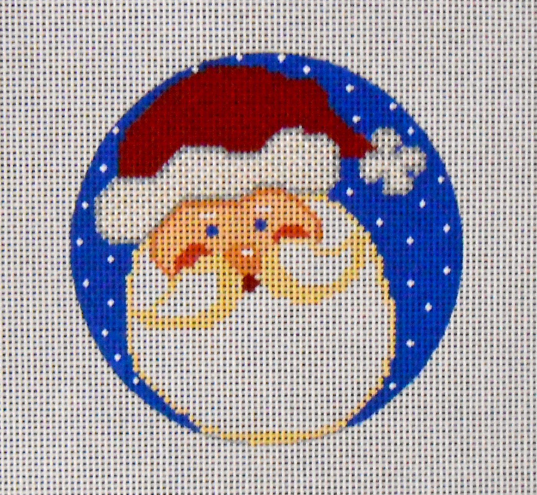 Santa Face Round