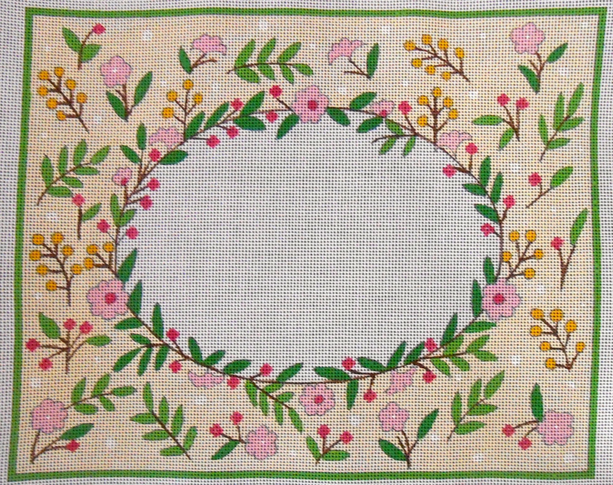 Pink Floral Oval