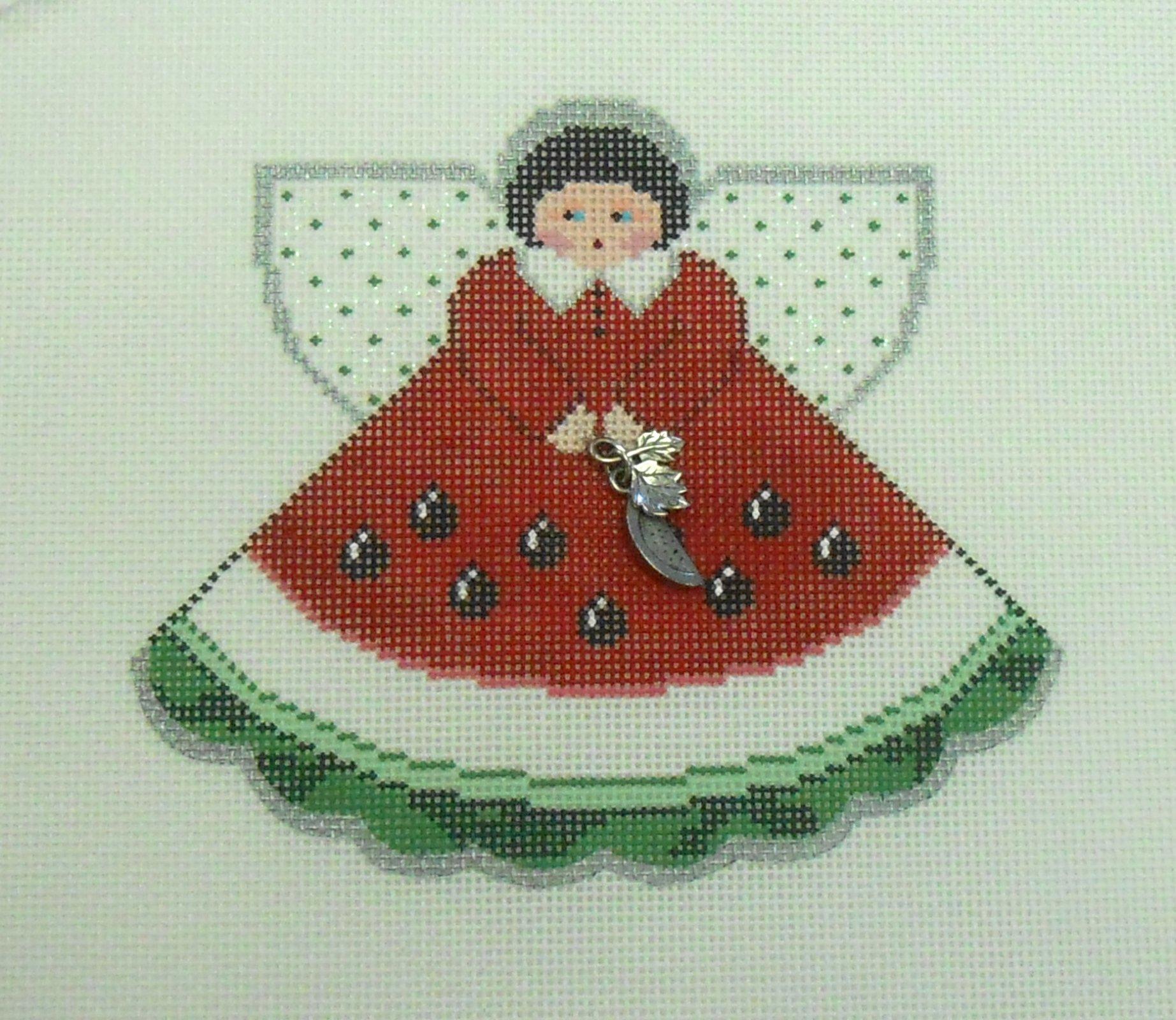 Watermelon Angel Ornament