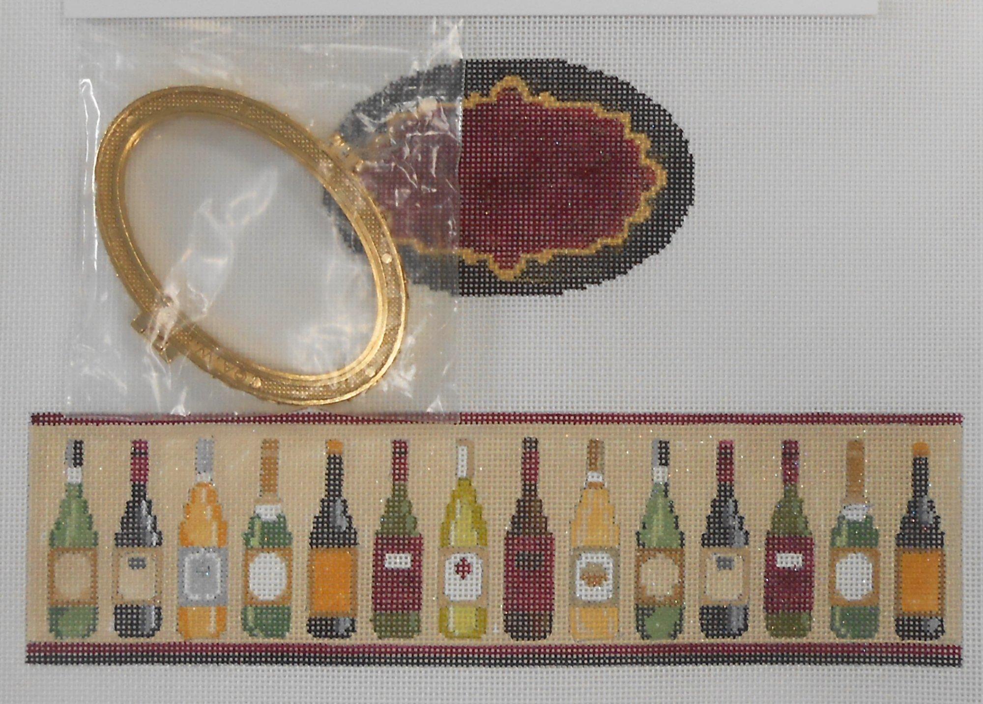Wine Bottles Oval Hinged Box