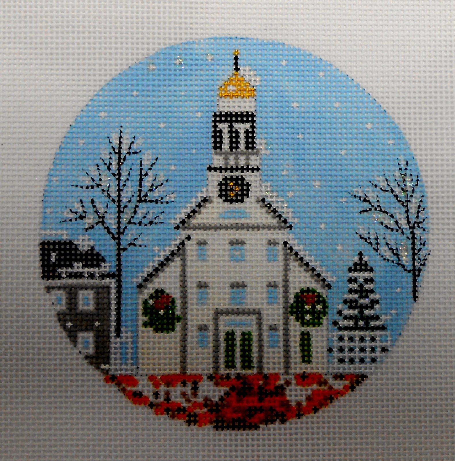 White Church Ornament