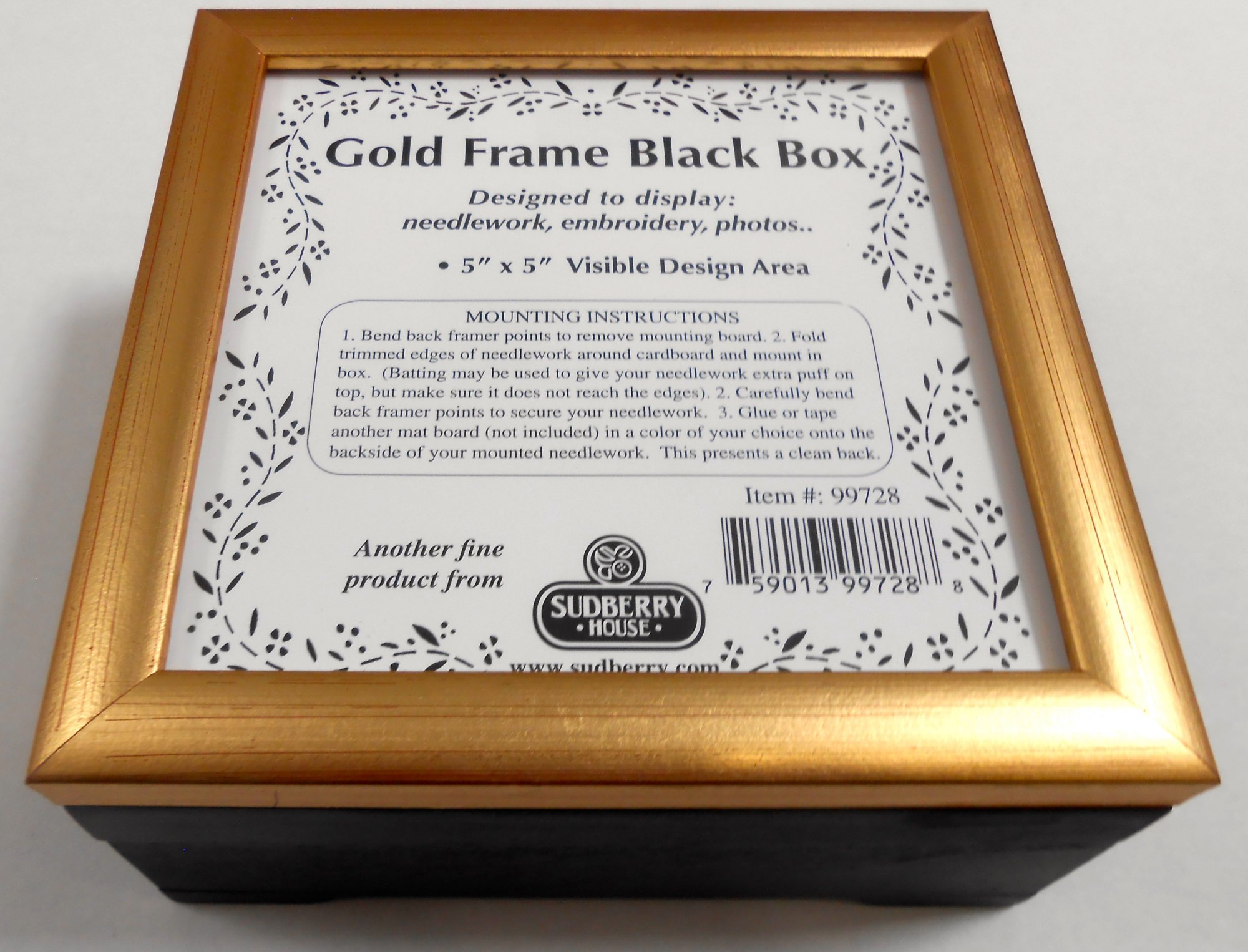 Black Box with Gold Top