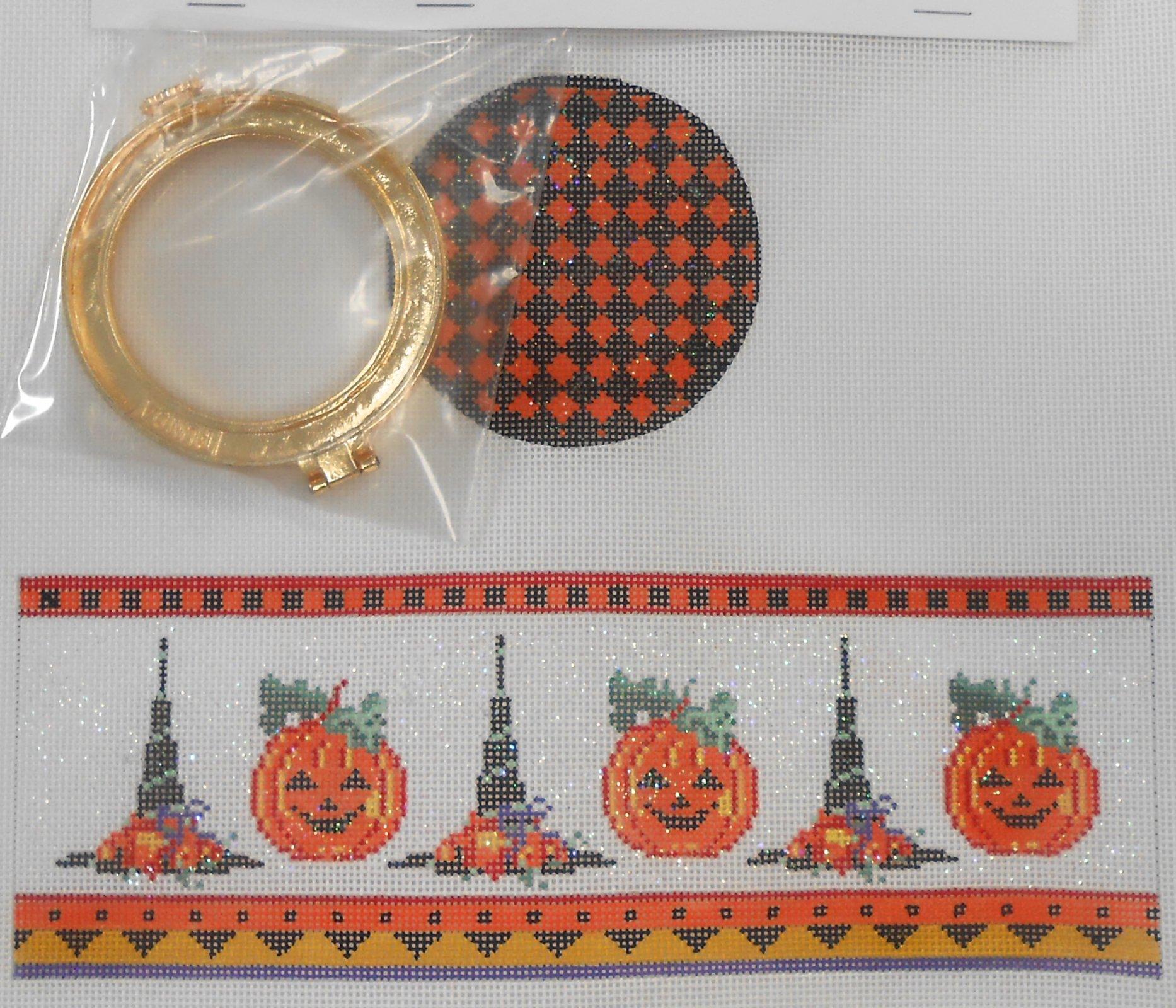 Hats & Pumpkins Round HInged Box