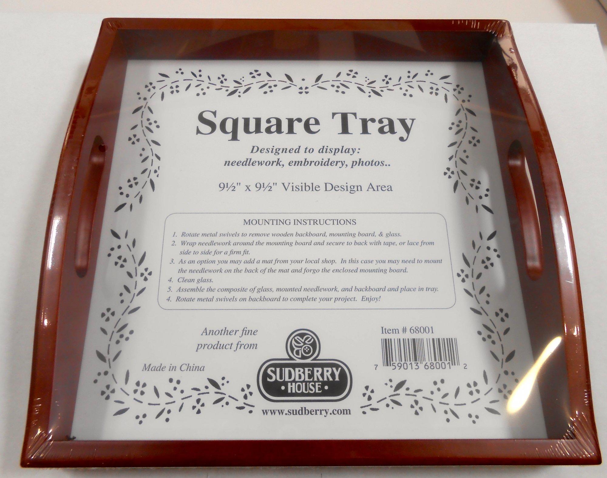 Small Mahogany Square Tray