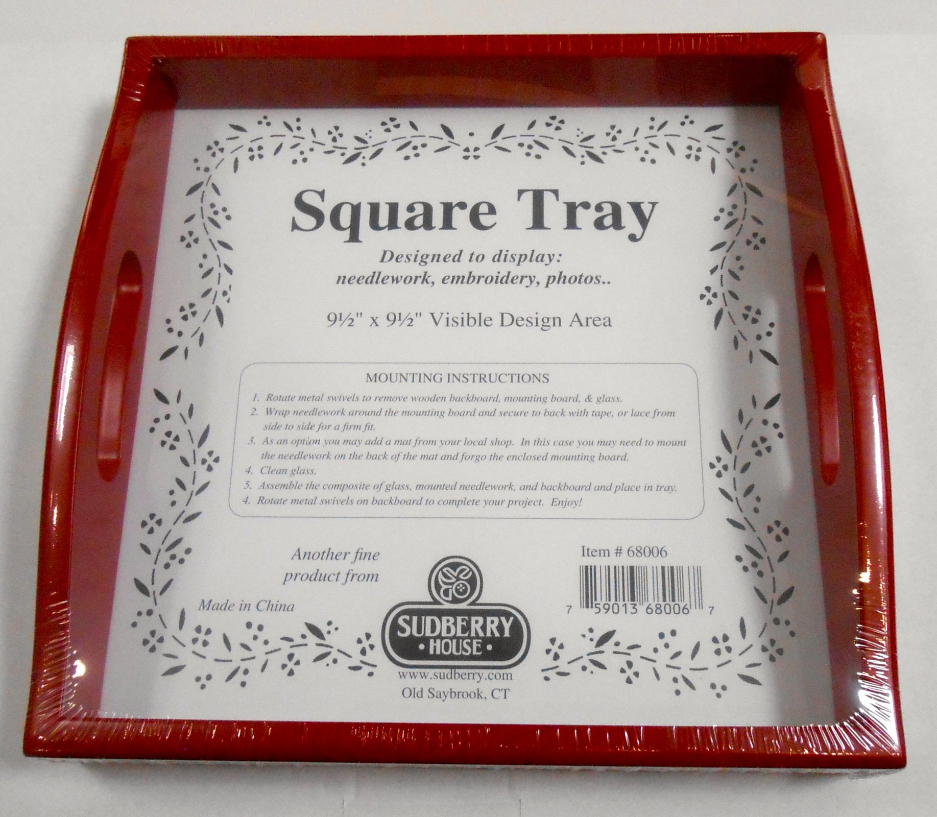 Small Red Square Tray