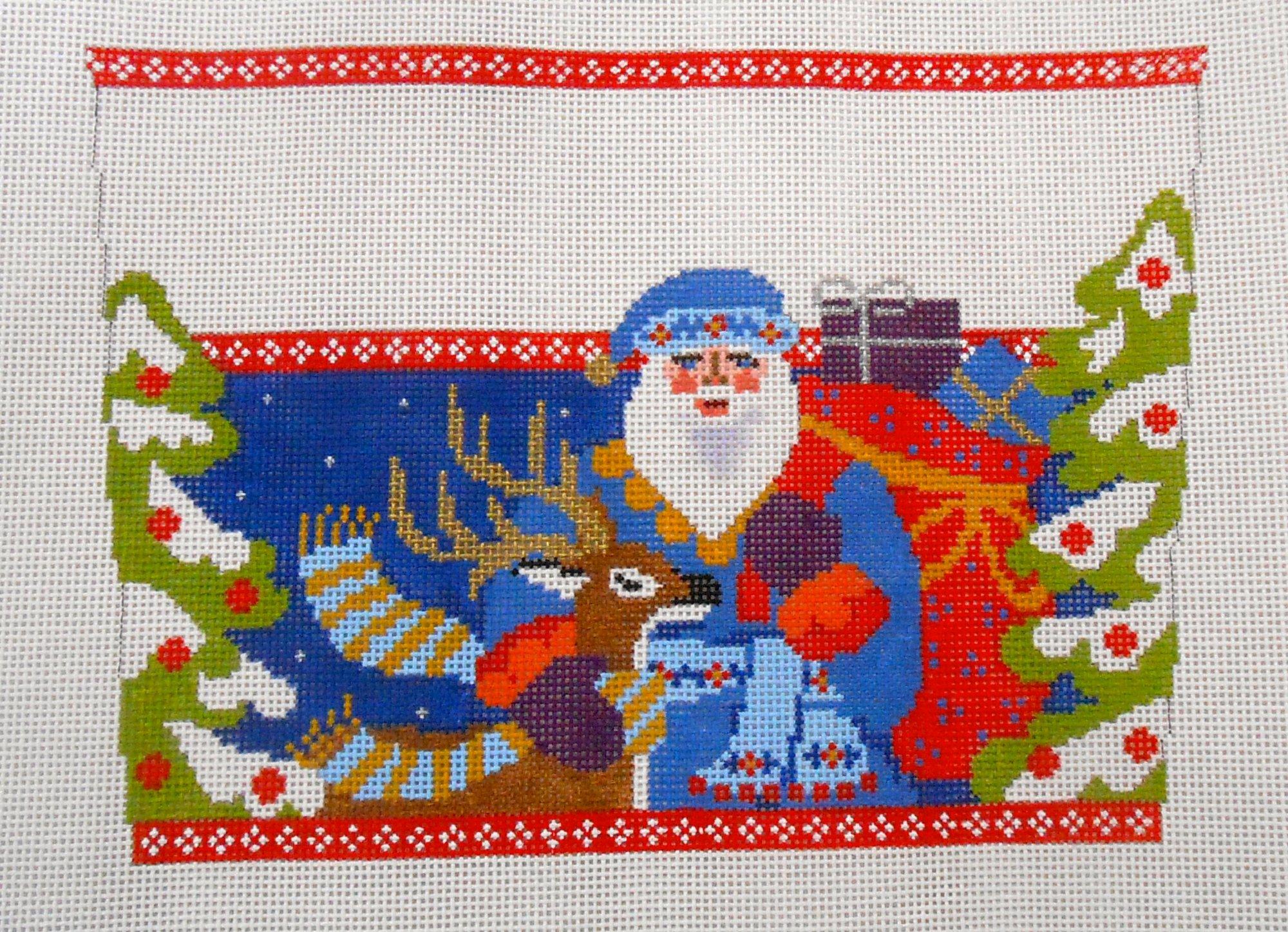 Jacobean Santa with Deer Cuff