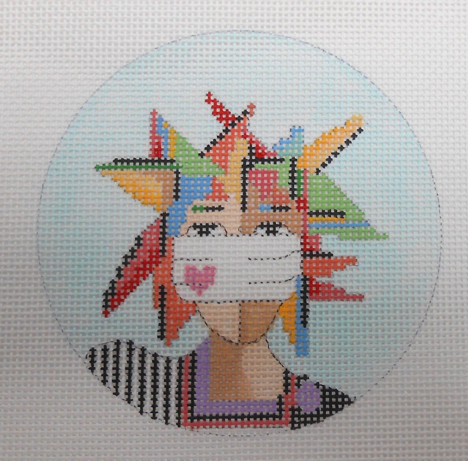 2020 style - geometric masked woman