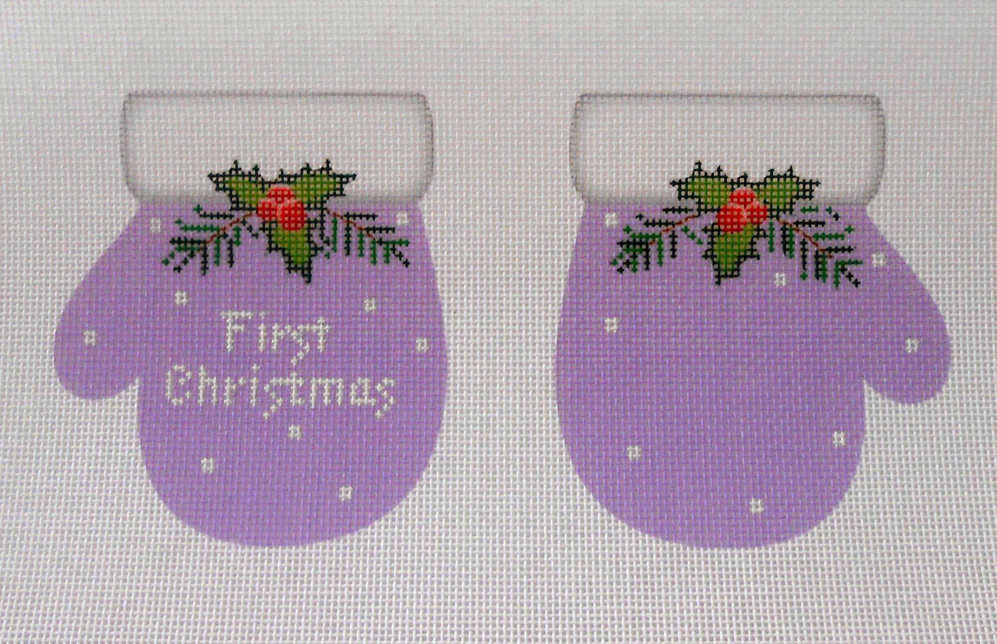 First Christmas Mittens, Lavendar