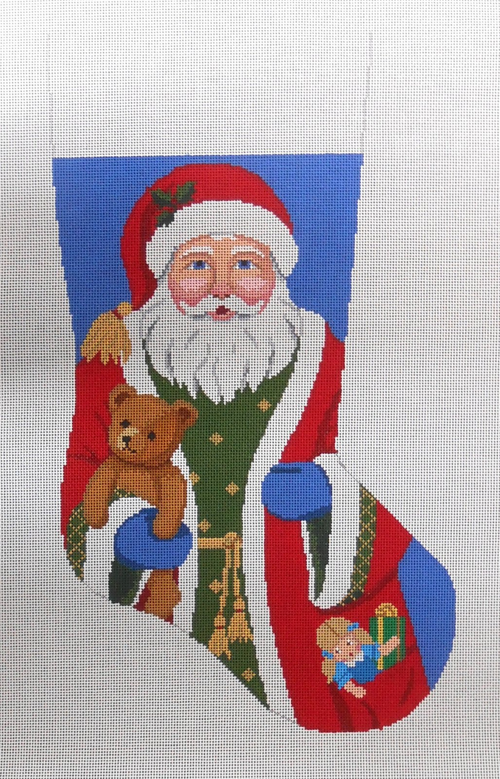 Santa with Bear Stocking