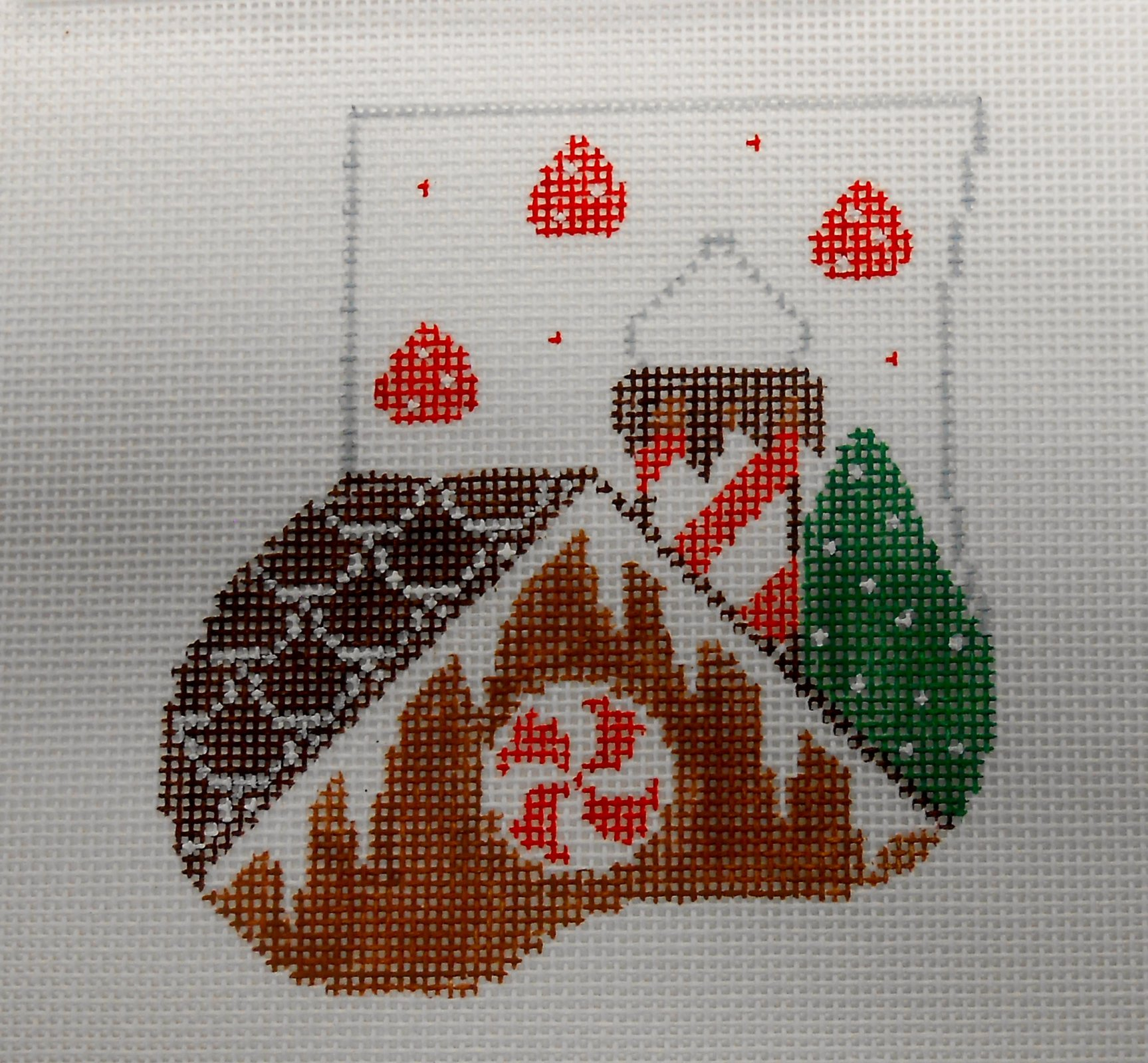 GIngerbread House with Gingerbread Man Mini Sock