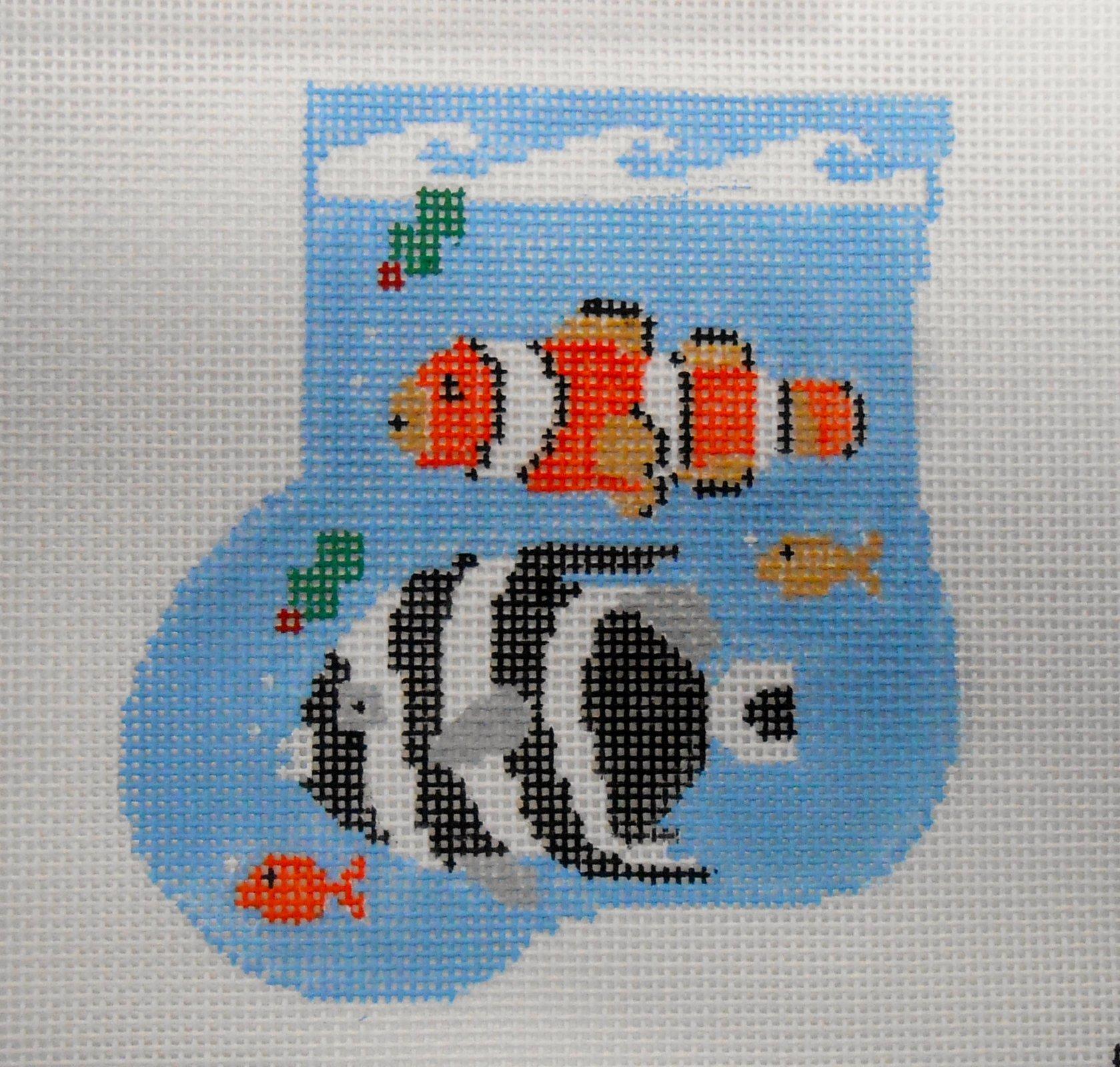Clown Fish Sock with fish