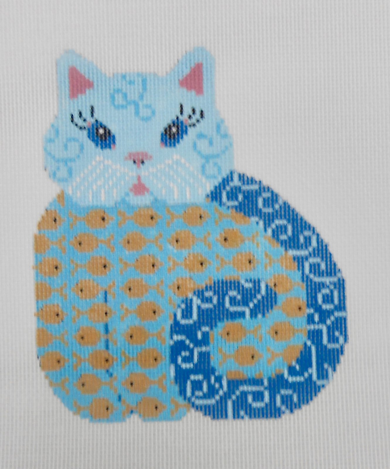 Blue Kitty with Belly full of Fish