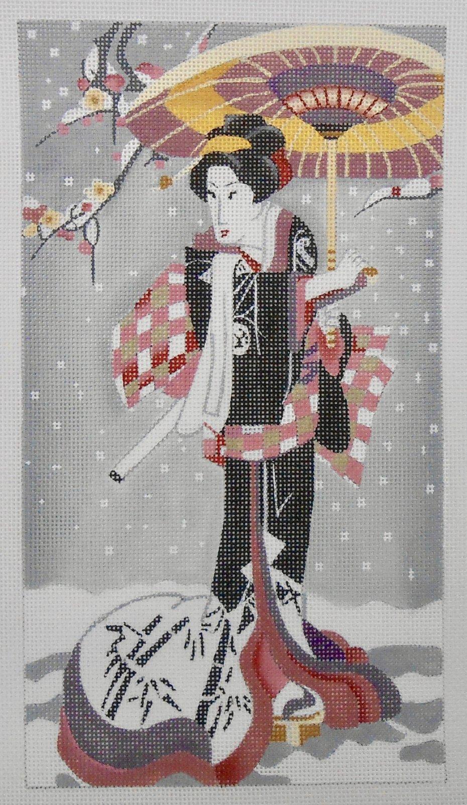 Geisha with a Parasol