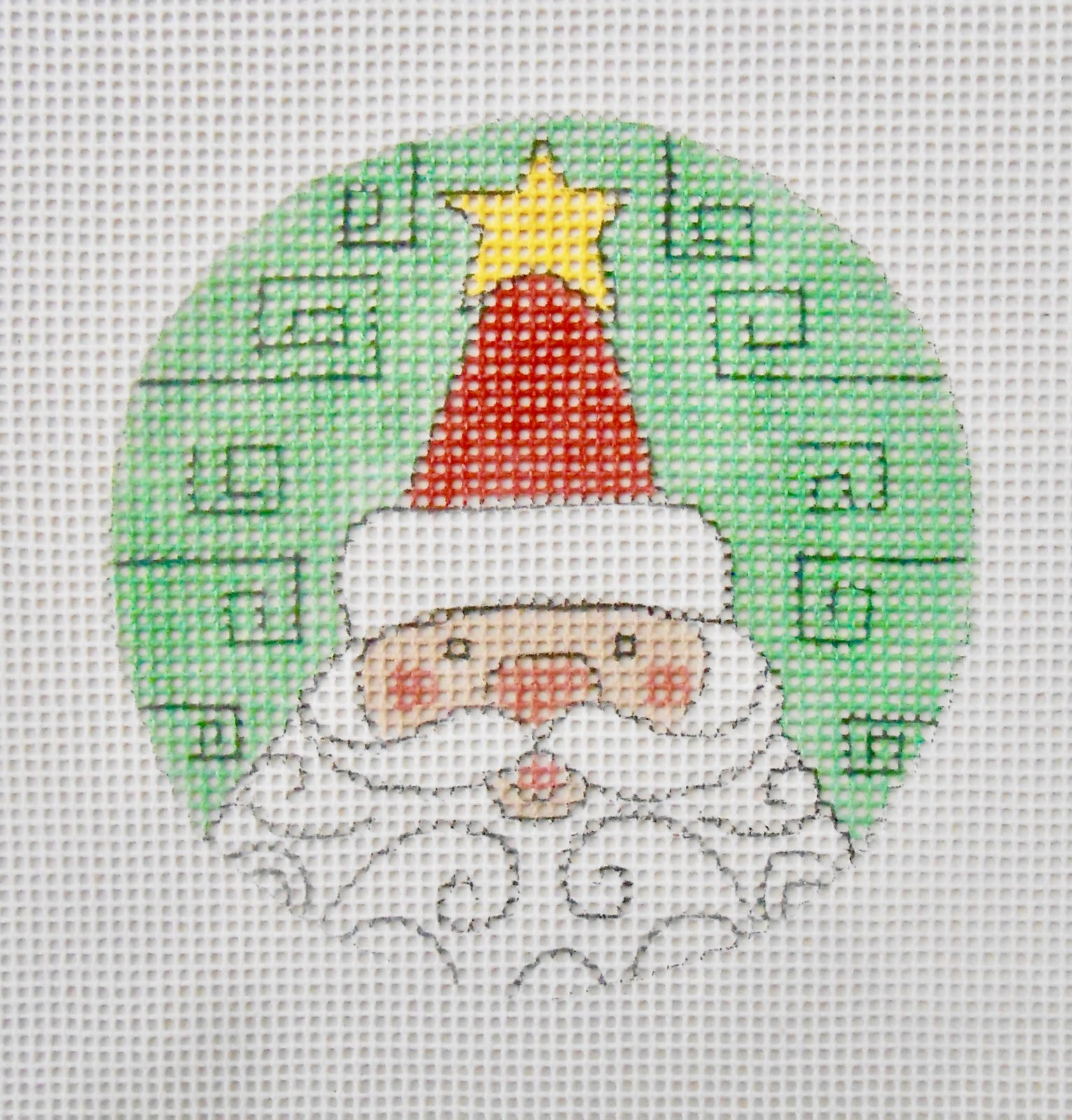 Whimsical Santa Face with curls