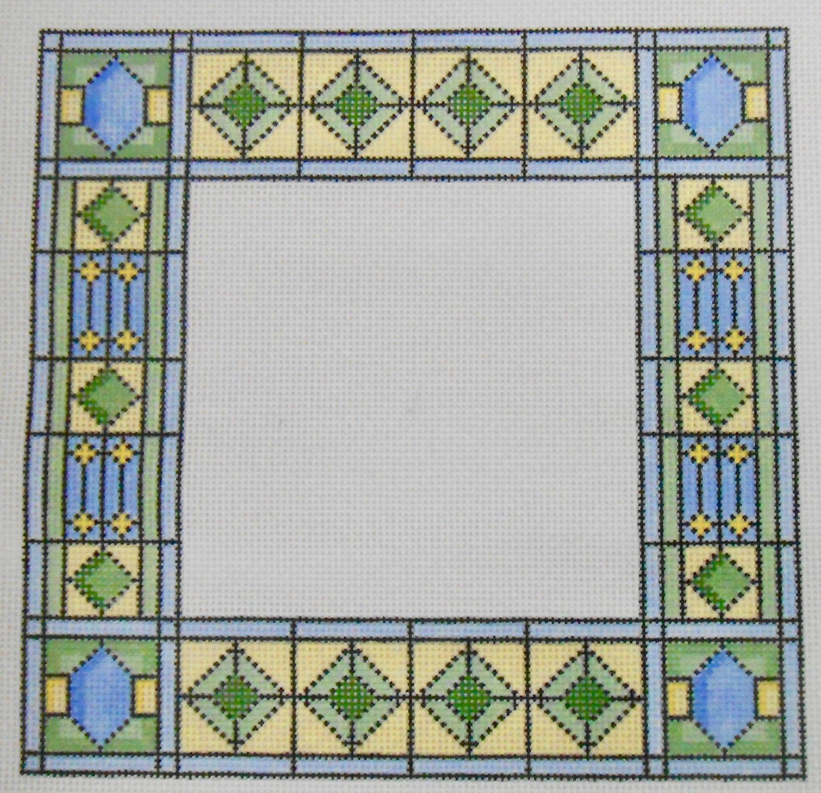 Blue, Green, Yellow Geometric Frame