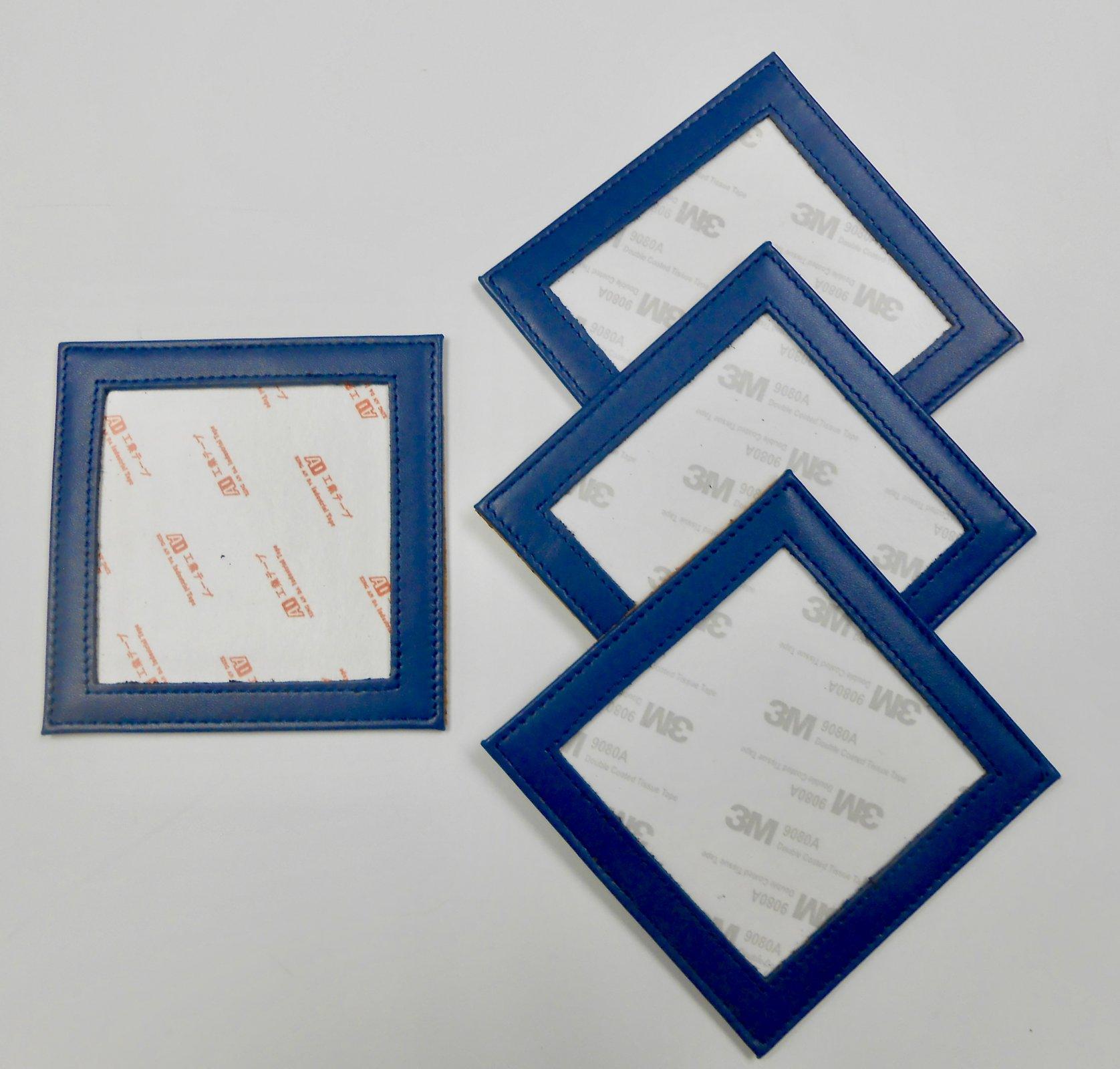 Blue Leather Coasters