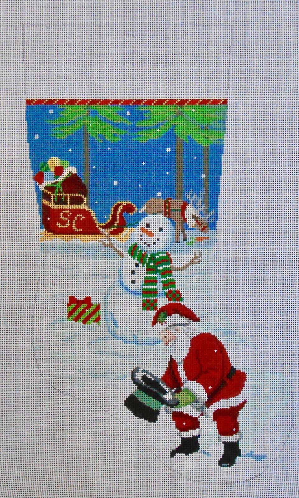 Snowman's Hat & Santa Stocking