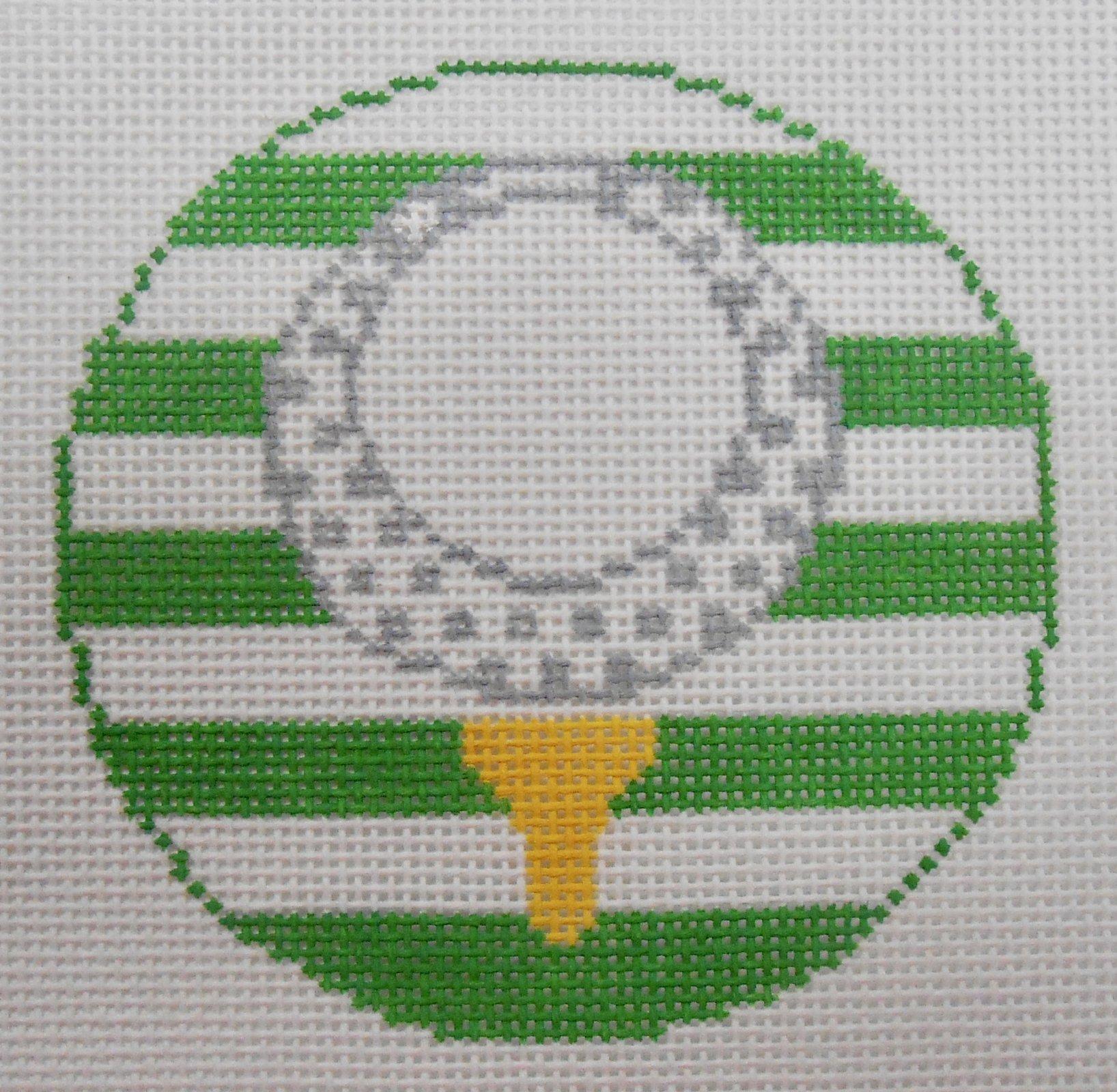 Golf Ball on Tee round