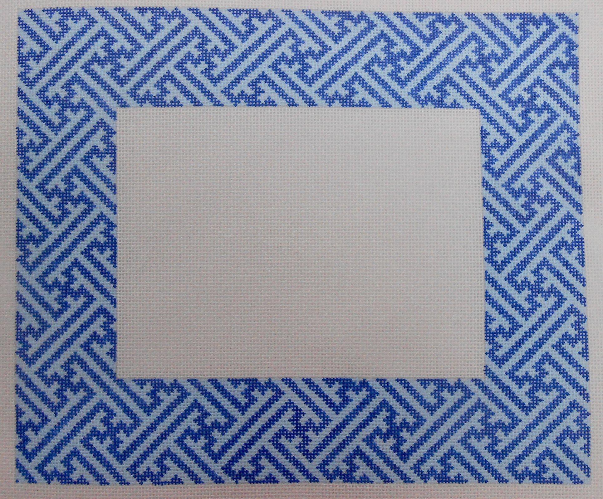 Two Tone Blue Geometric Frame