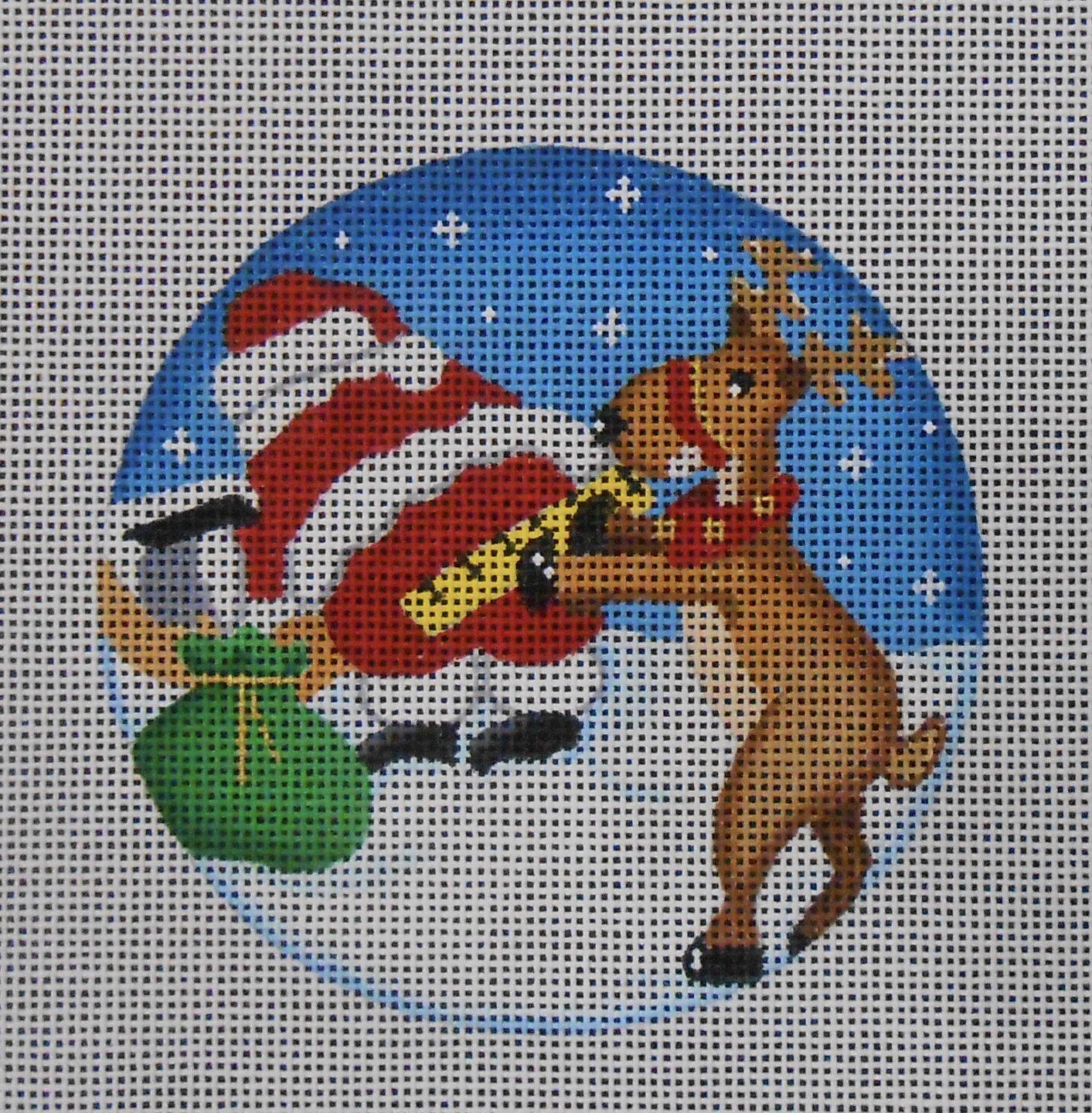 Measuring Santa Reindeer Ornament