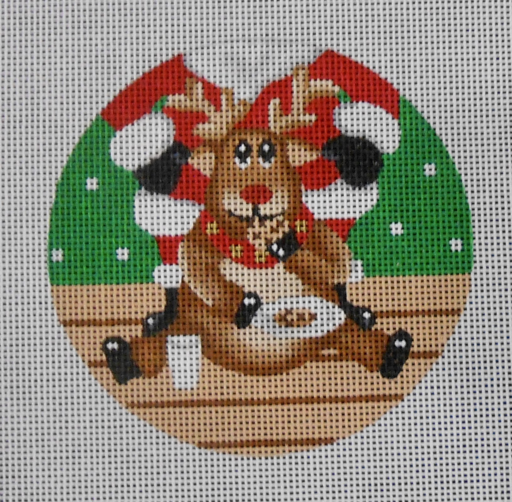 Cookie Eating Reindeer Ornament