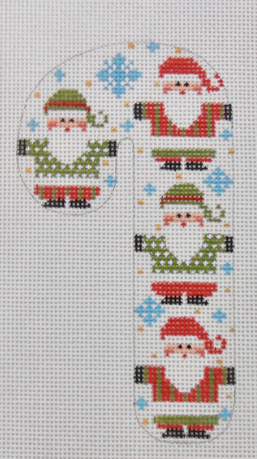 Four Santas Candy Cane
