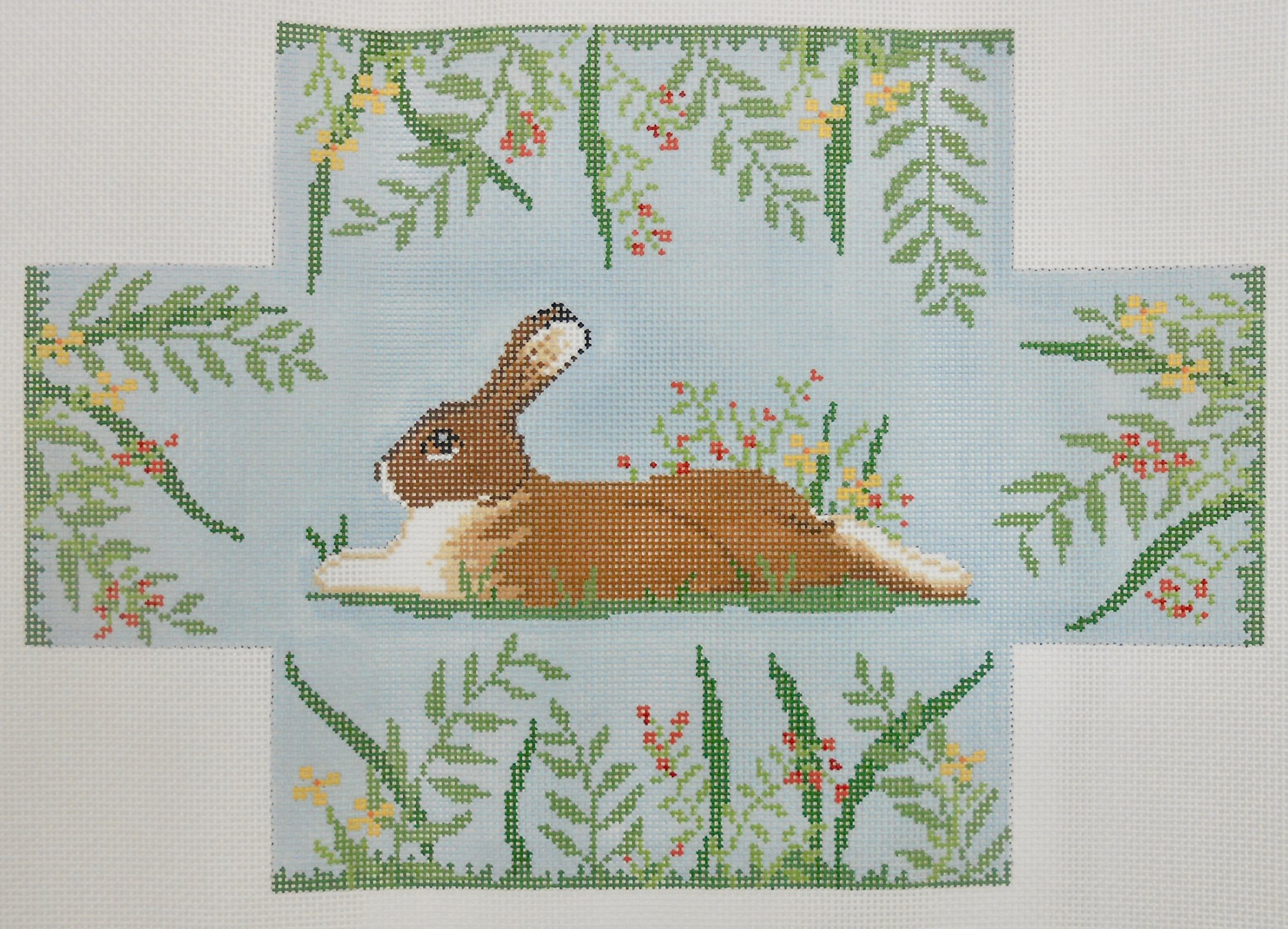 Rabbit in Flowers Brick Cover