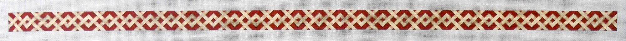 Camel and Red Lattice Belt
