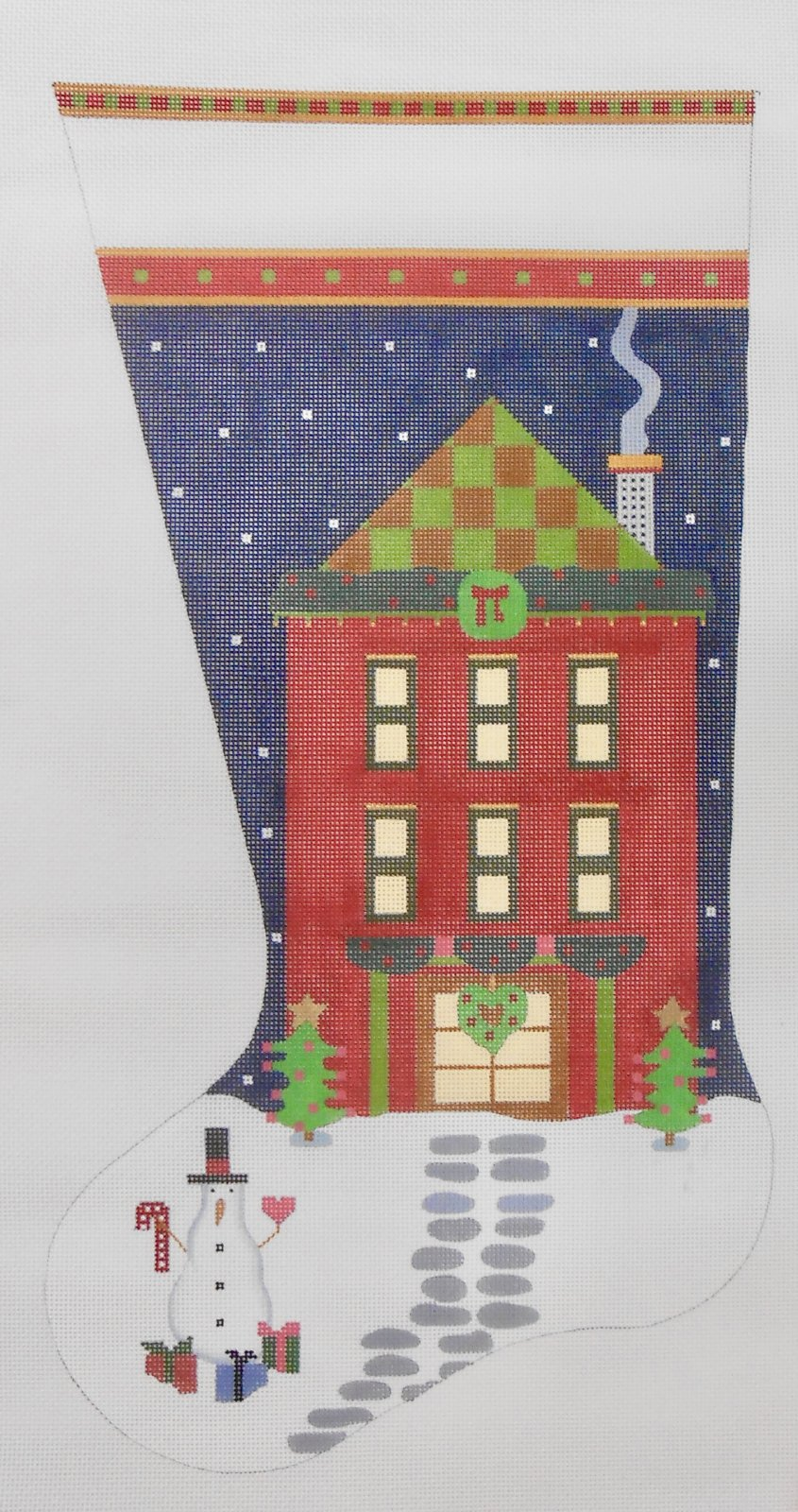 Red House Christmas Stocking