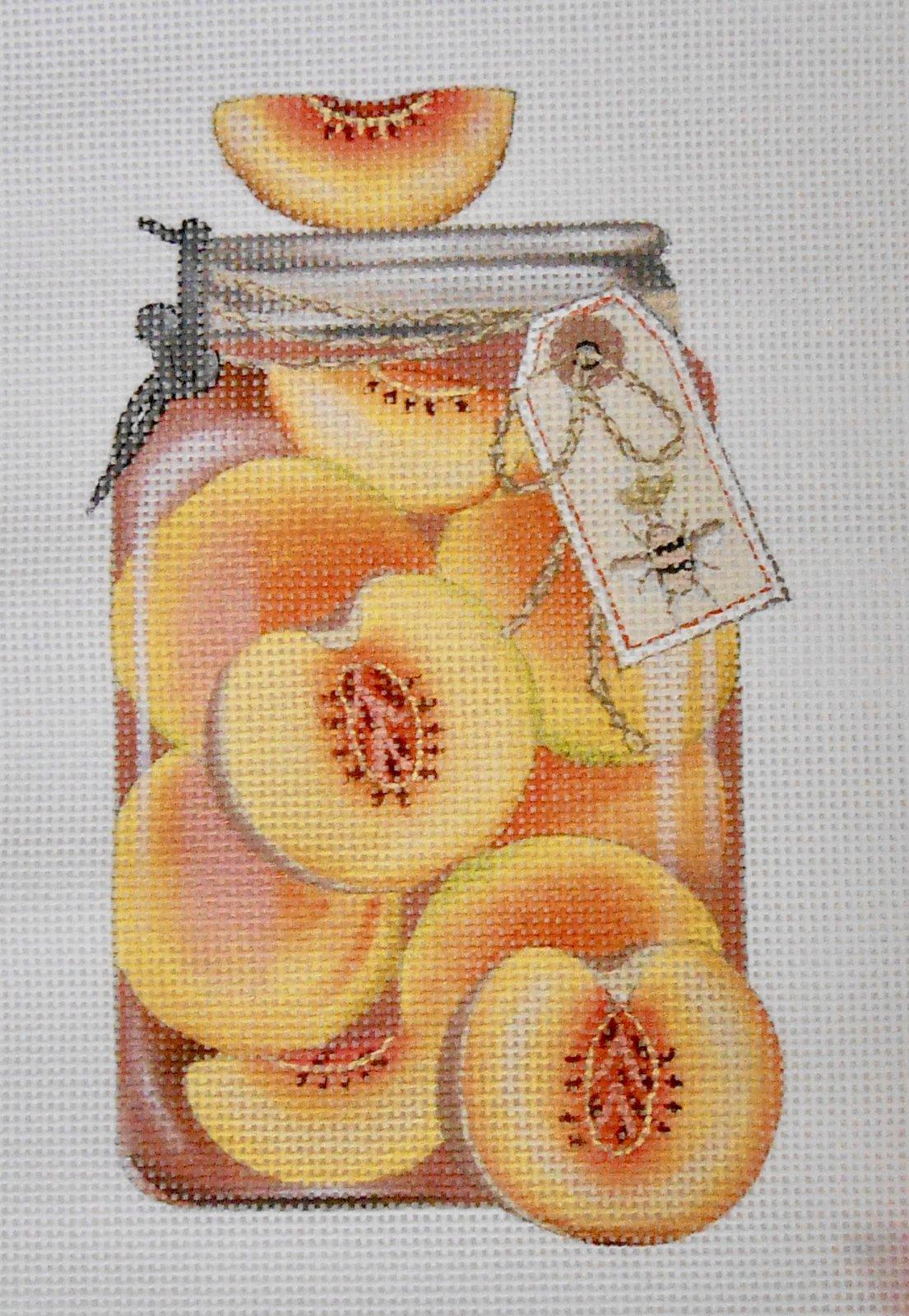 Mason Jar of Peaches
