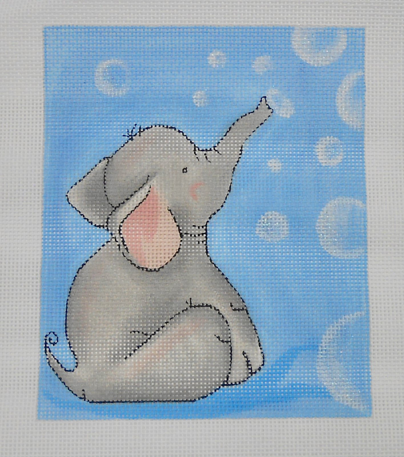 Baby Elephant and Bubbles