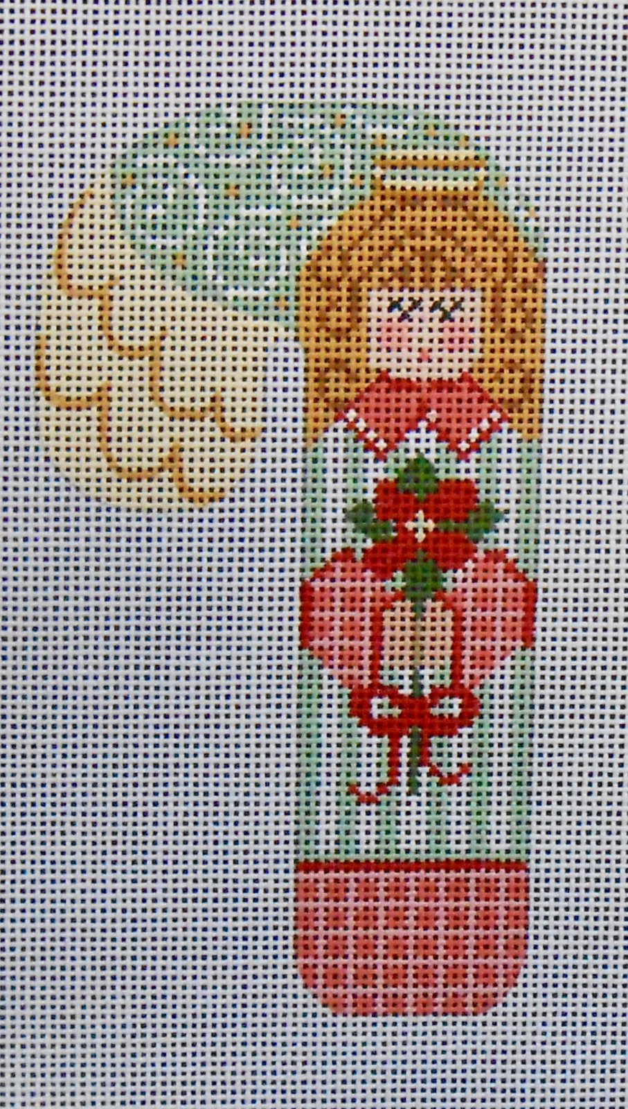 Angel with Poinsettias Candy Cane