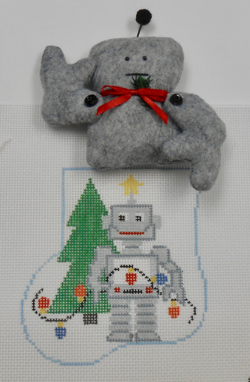 Robot with Robot Ministocking