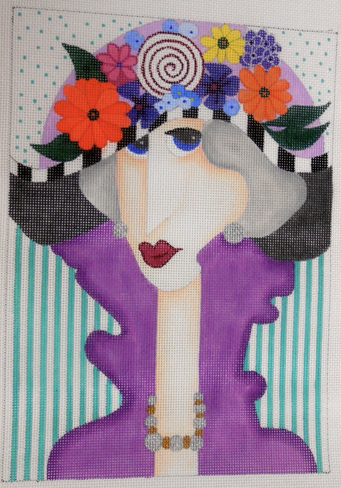 Lady with Flower Hat