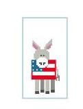 Donkey with Flag
