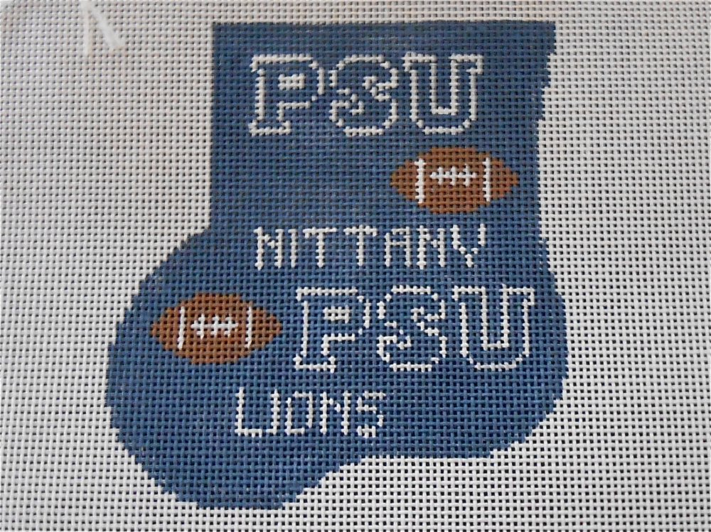 Penn State University Mini Stocking with Football
