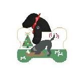 Black Lab Digging Ornament