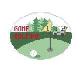 Gone Golfing Oval