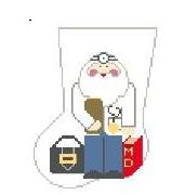 Doctor Santa Mini Sock