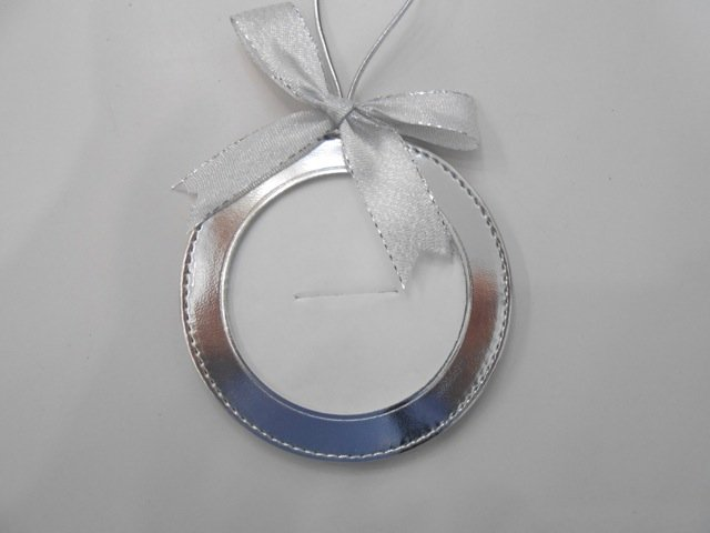 Silver Leather Ornament