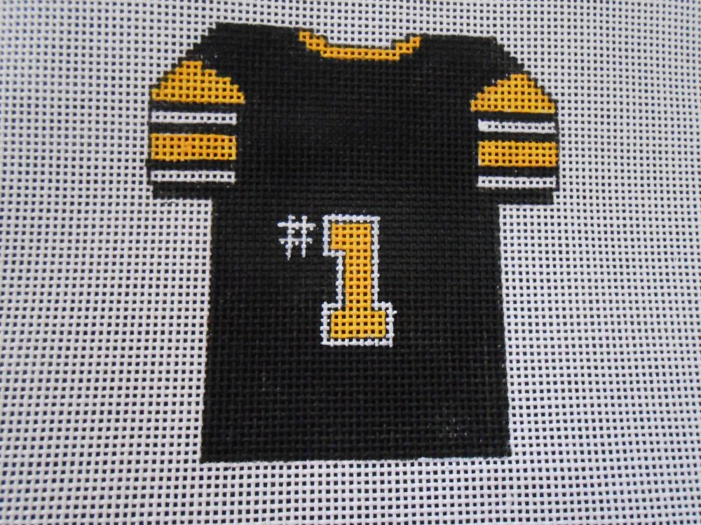 Black and Gold Football Jersey Ornament