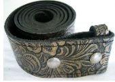 Black/Gold Wildflower Belt Strap