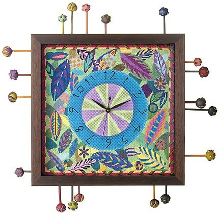 Leaf Clock Canvas with mechanism