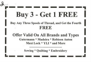 Buy 3 Threads get 1 Free