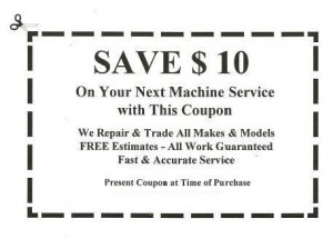 Save $10 on Machine Service