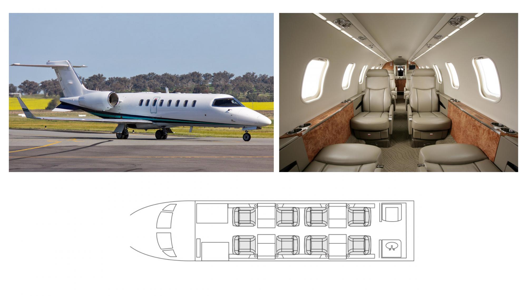 Lear Jet 45 Interior