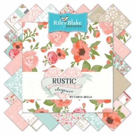 Riley Blake - Rustic Elegance - 10 Squares - 42 pieces